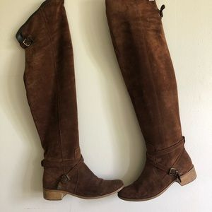 Over the knee suede Charles David boot size 8